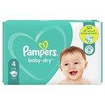 Pampers Baby-Dry Size 4, 44 Nappies, 9kg-14kg, Essential Pack
