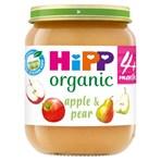 HiPP Organic Apple and Pear Baby Food Jar 4+ Months 125g