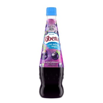 Ribena Blackcurrant Squash No Added Sugar 850ml