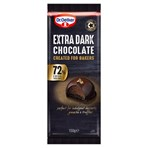 Dr. Oetker 72% Extra Dark Chocolate Bar 150g
