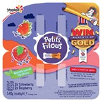 Petits Filous Big Pots Strawberry and Raspberry Fromage Frais 4 x 85g (340g)