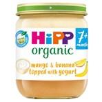 HiPP Organic Mango & Banana Topped with Yogurt Baby Food Jar 7+ Months 160g