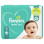Pampers Baby-Dry Size 5, 39 Nappies, 11kg-16kg, Essential Pack