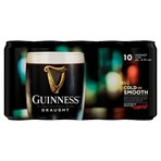 Guinness Draught Stout Beer 10 x 440ml Can
