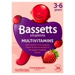 Bassetts Vitamins Multivitamins Strawberry Flavour 3-6 Years One a Day 30 Soft & Chewies