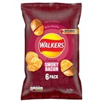 Walkers Smoky Bacon Multipack Crisps 6 x 25g