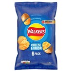 Walkers Cheese & Onion Multipack Crisps 6 x 25g