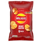 Walkers Ready Salted Multipack Crisps 6 x 25g