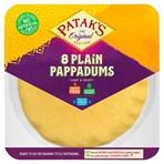 Patak's Plain Pappadums x 8
