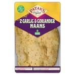 Patak's Garlic & Coriander Naan Breads x 2