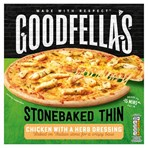 Goodfella's Stonebaked Thin Chicken with a Herb Dressing 365g