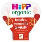 HiPP Organic Tomato & Mozzarella Spaghetti Toddler Tray Meal 1-3 Years 230g