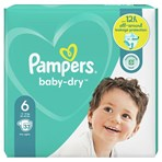 Pampers Baby-Dry Size 6, 33 Nappies, 13kg-18kg, Essential Pack