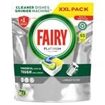 Fairy Platinum All In One Dishwasher Tablets Lemon, 65 Tablets