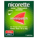 Nicorette® Step 2 Invisi 15mg Patch, 7 Nicotine Patches (Stop Smoking Aid)