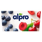 Alpro Blueberry & Cherry Yoghurt Alternative 4x125g