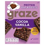 Graze Protein Oat Boosts Cereal Bars Cocoa Vanilla 4 x 30g