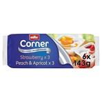 Muller Corner Strawberry and Peach & Apricot Yogurts 6 x 143g
