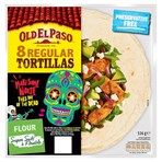 Old El Paso 8 Regular Tortillas Flour 326g