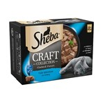 Sheba Craft Cat Food Pouches Fish in Gravy 12 x 85g