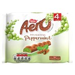 Aero Bubbly Peppermint Mint Chocolate Bar Multipack 4 Pack (4 x 27g)