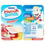 Munch Bunch Double Up Fromage Frais Strawberry Vanilla 4 x 85g (340g)