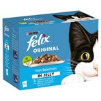 FELIX Fish Selection in Jelly Wet Cat Food 12 x 100g