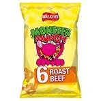 Walkers Monster Munch Roast Beef Multipack Snacks 6x20g