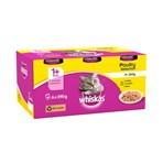 Whiskas Adult Wet Cat Food Tins Poultry in Jelly 6 x 390g