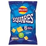 Walkers Squares Salt & Vinegar Multipack Snacks 6x22g