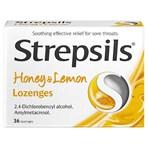 Strepsils Honey & Lemon Lozenges x36 for Sore Throat