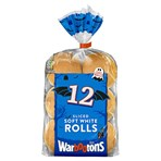 Warburtons 12 Sliced Soft White Rolls