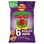 Walkers Monster Munch Pickled Onion Multipack Snacks 6x20g