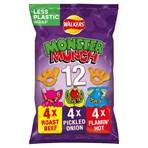 Walkers Monster Munch Variety Multipack Snacks 12x20g