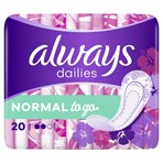 Always Dailies Normal To Go  Panty Liners x20