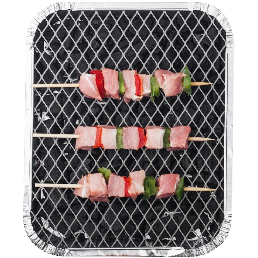 Small Disposable Charcoal BBQ tray 1
