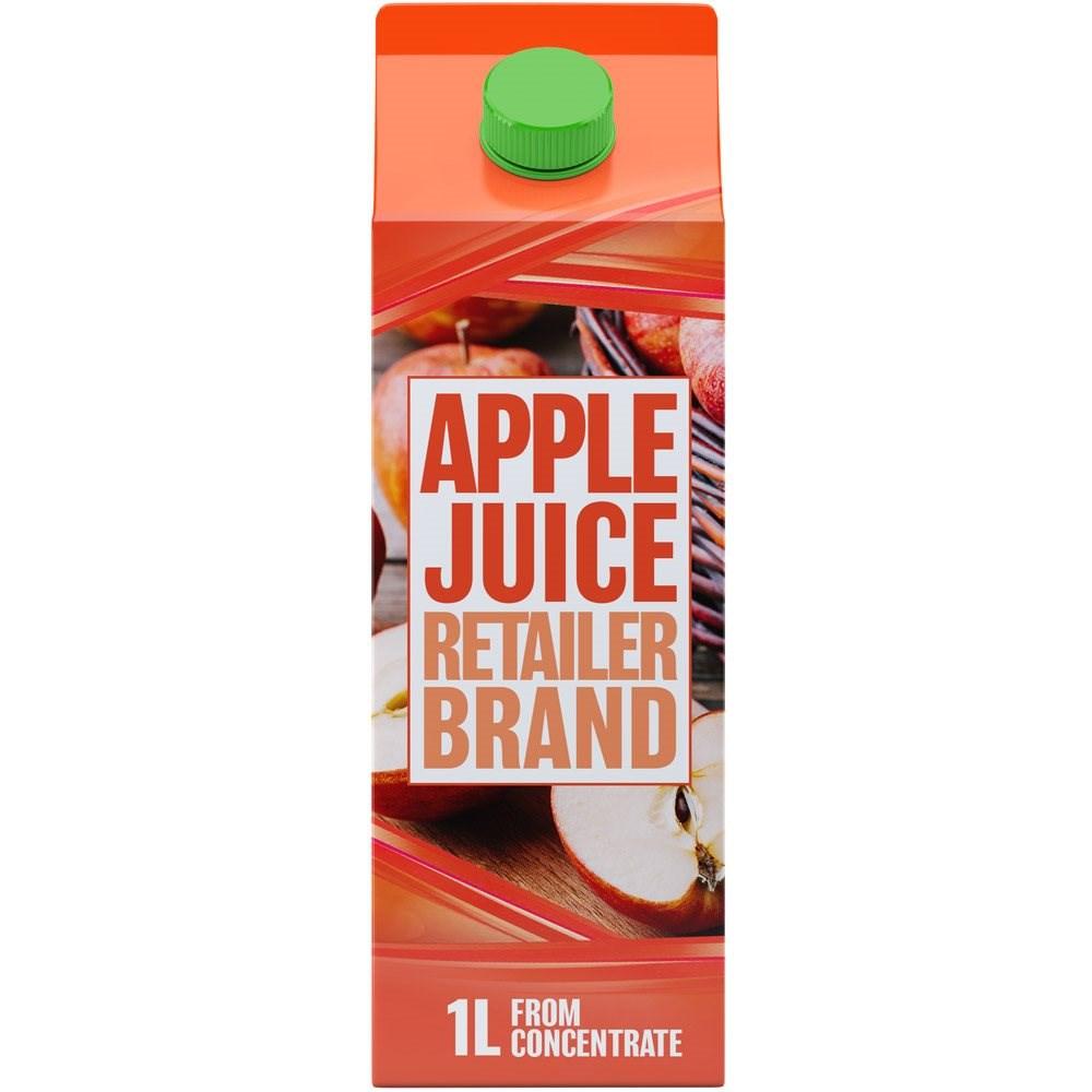 Retailer Brand Apple Juice Concentrate Carton 1l