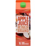Retailer Brand Apple Juice Concentrate Carton 1l