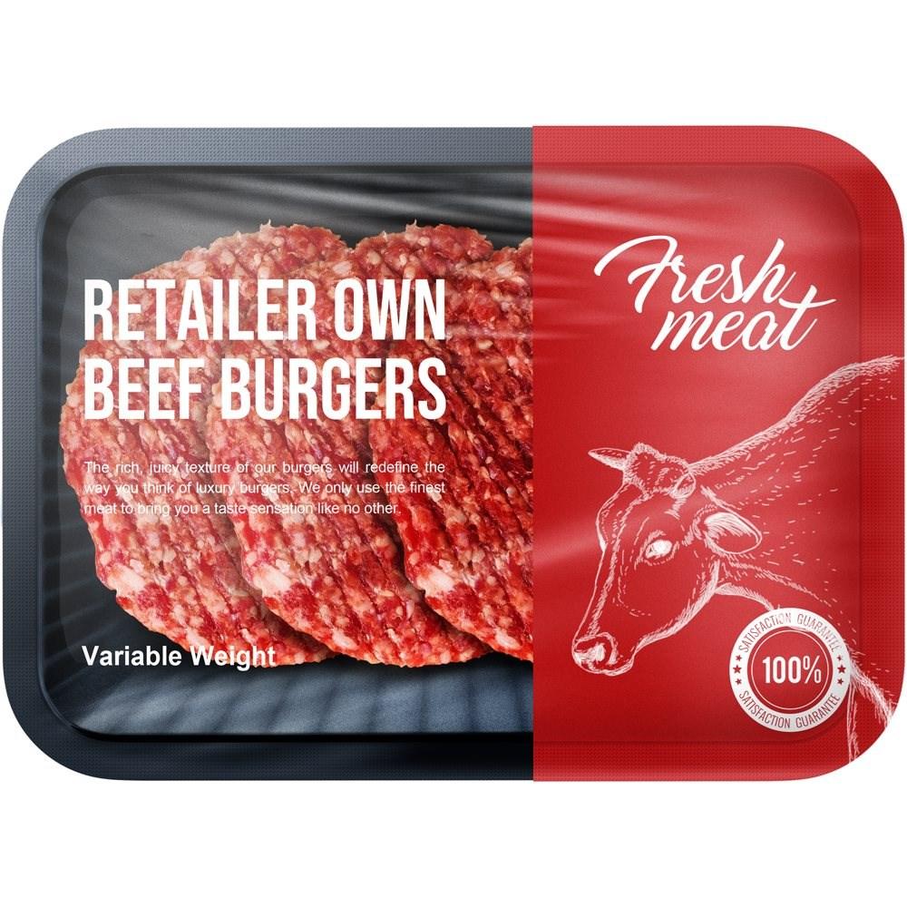 Burgers Retailer's Own Brand 454g