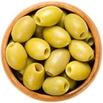 Pitted green olives Retailer's Own Brand 310 - 350g