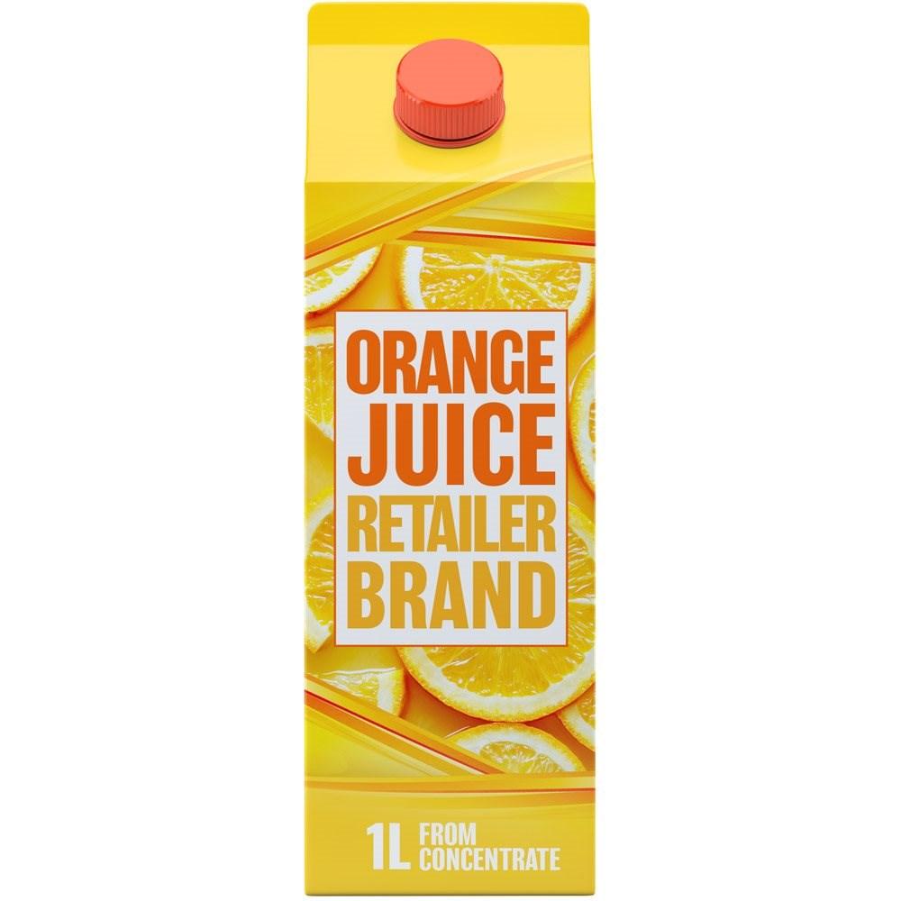 Retailer Brand Orange Juice Concentrate Carton 1l