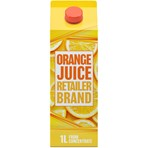 Retailer Brand Orange Juice Concentrate Carton 1l