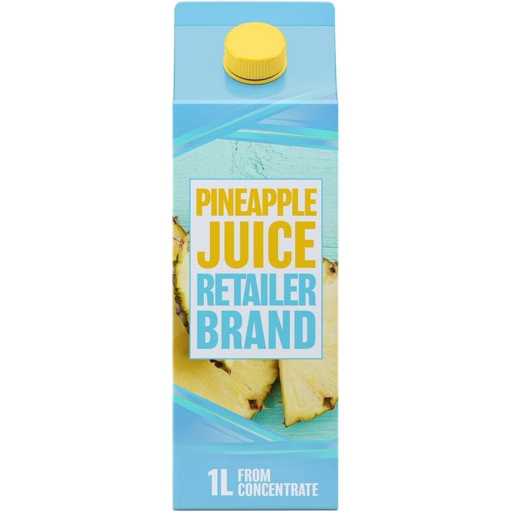 Retailer Brand Pineapple Juice Concentrate Carton 1l