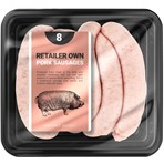 Butchers Pork Sausages 8 Pack Retailer's Own Brand 454g