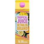 Retailer Brand Tropical Juice Concentrate Carton 1l